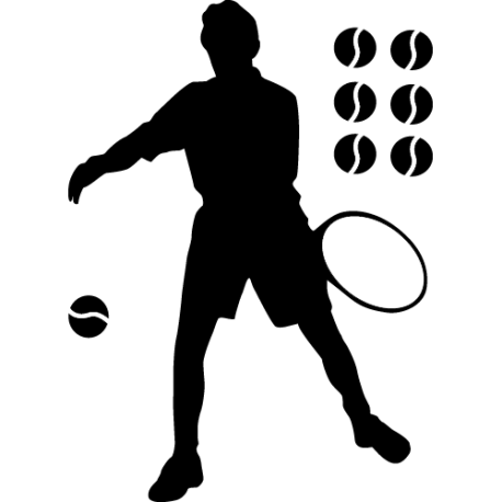 Sticker Tennis - Joueur 1