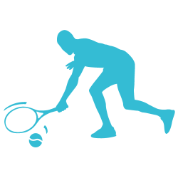 Sticker tennisman raquette et balle
