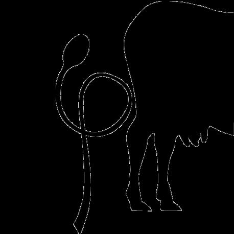 Sticker vache avec cuillère
