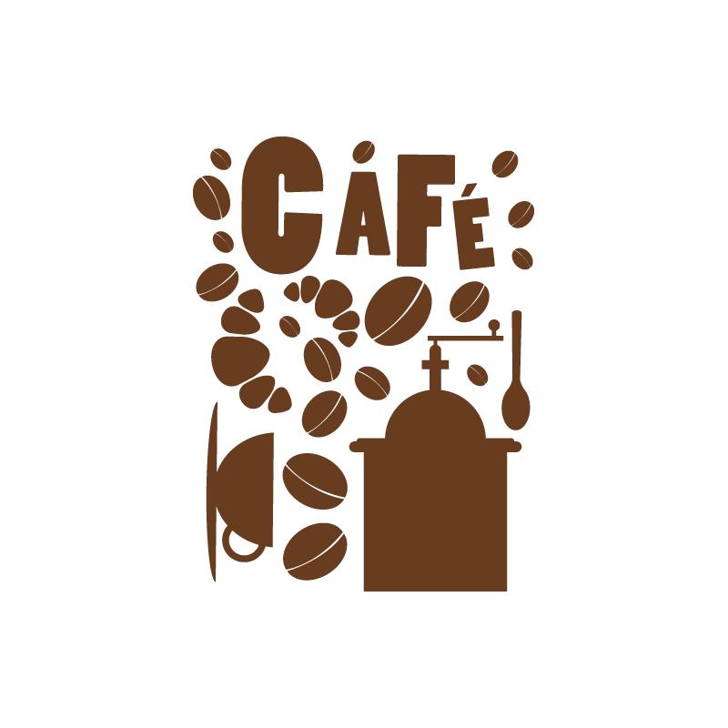 Sticker Cuisine Tasse Et Grains De Caf Ef Bf Bd