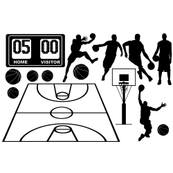 Stickers BASKETBALL - Sticker en KIT