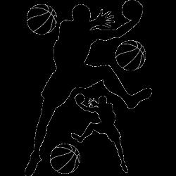 Stickers basketteur - joueur n 8