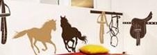 Stickers déco chevaux