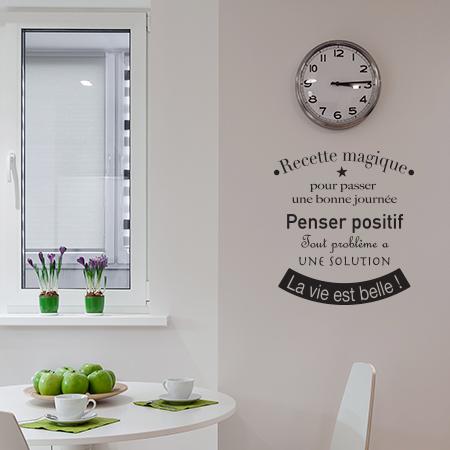 Autocollant texte la vie est belle stickers muraux for Autocollant mural texte