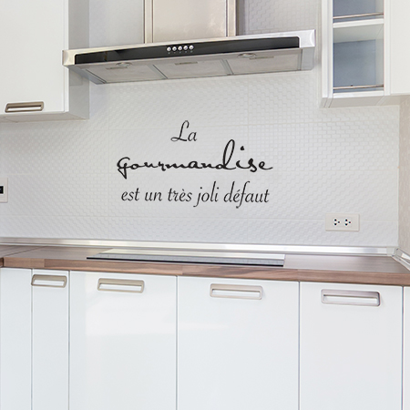 Sticker gourmandise texte