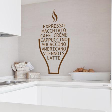Stickers noms café cuisine