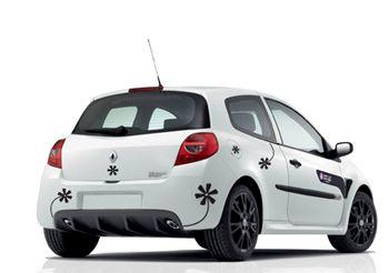 Sticker fleurs deco voiture