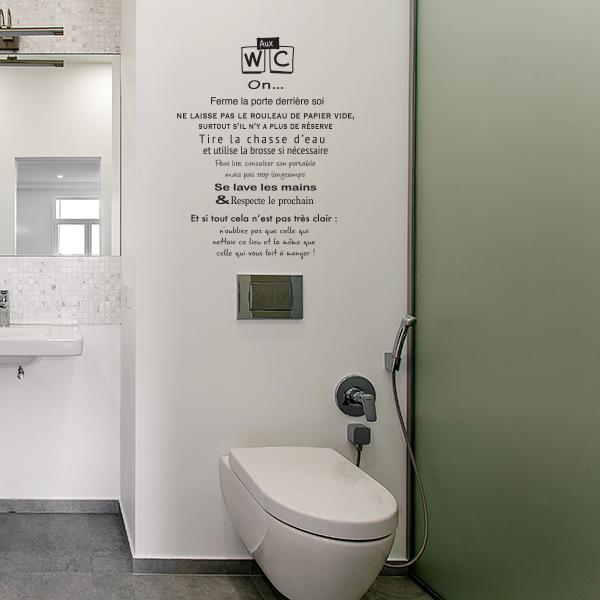 Stickers règles des Toilettes