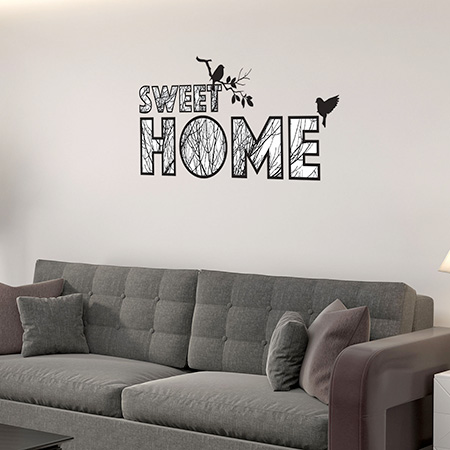 Sticker texte home