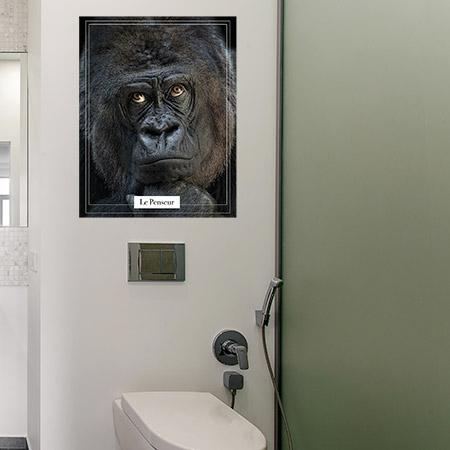 Stickers muraux wc singe