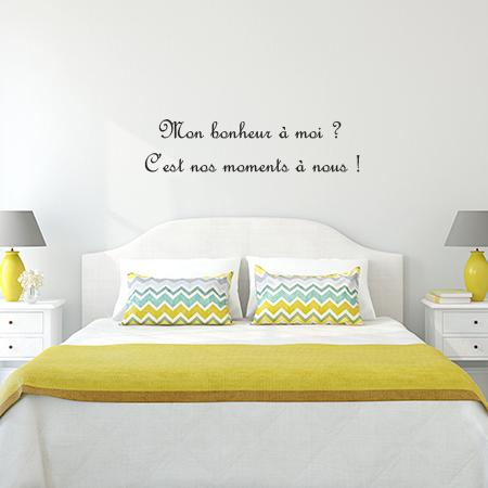 stickers texte sur bonheur