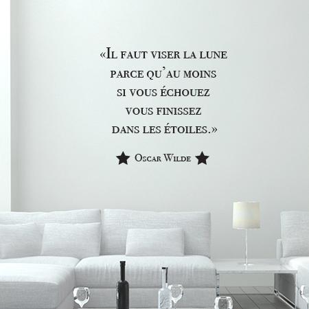 Stickers Citation Salon Stickers Muraux Texte Oscar Wilde