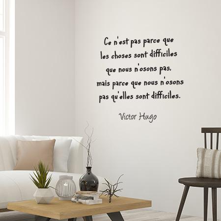 Stickers Muraux Textes Celebres De Victor Hugo Adhesif Pour La
