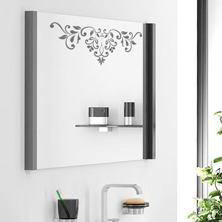 Stickers muraux frises baroque petales adh sifs salle de for Decoller un miroir