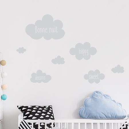Autocollants nuages bébé