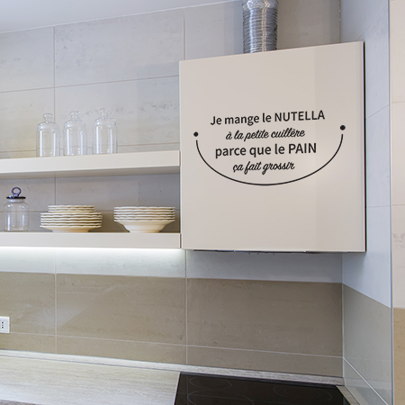 Autocollants textes cuisine Nutella