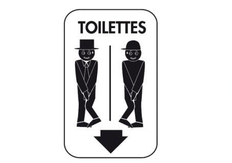 Sticker gayfriendly pour WC