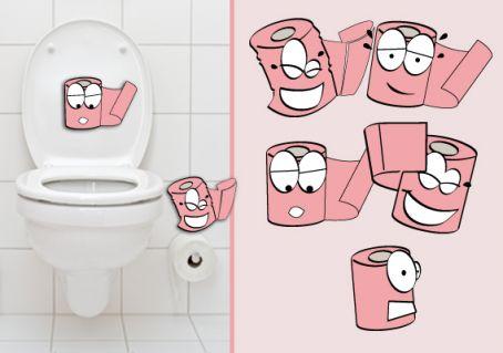Sticker wc humour