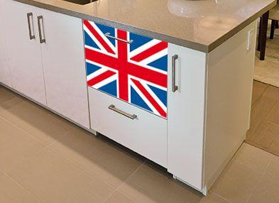 sticker londres sticker drapeau anglais decorecebo. Black Bedroom Furniture Sets. Home Design Ideas
