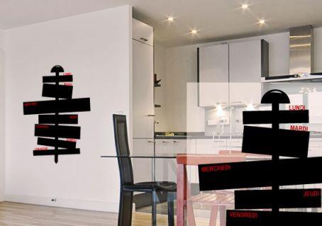 stickers muraux ardoise le semainier pour cuisine par d cor c bo. Black Bedroom Furniture Sets. Home Design Ideas