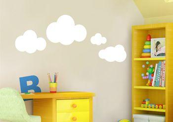 Stickers nuages - Sticker chambre bébé en kit fille garçon - Décorécébo