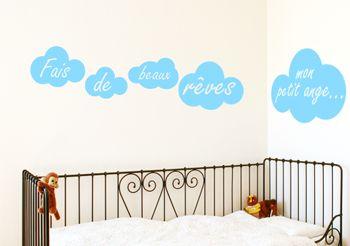 Stickers nuages pour chambre d\'enfant - Stickers muraux ...