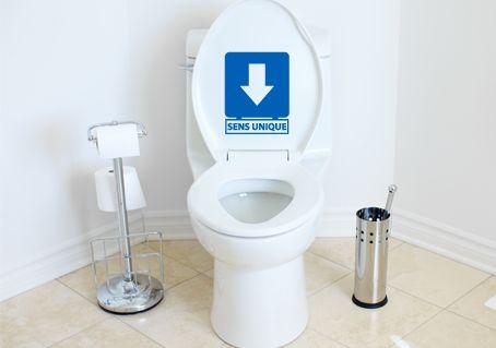 Sticker WC rigolo sens unique