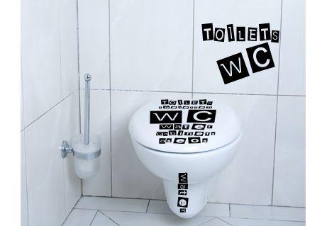 stickers wc pour abattant avec textes toilettes en langues etrangeres. Black Bedroom Furniture Sets. Home Design Ideas