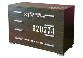stickers atelier et sticker pour meubles d co industrielle loft tendance. Black Bedroom Furniture Sets. Home Design Ideas