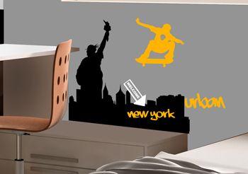 sticker tag urban street new york decorecebo. Black Bedroom Furniture Sets. Home Design Ideas