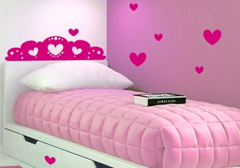 sticker princesse fille stickers muraux chambre b b. Black Bedroom Furniture Sets. Home Design Ideas