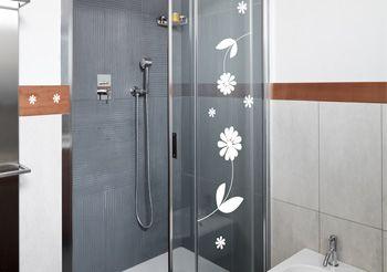 stickers fleurs de salle de bain