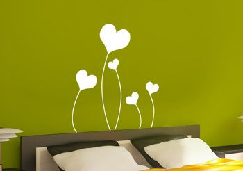 stickers t te de lit avec des coeurs d co love pour parents. Black Bedroom Furniture Sets. Home Design Ideas