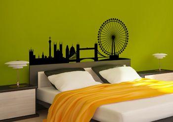 stickers muraux vue sur londres pour la chambre coucher. Black Bedroom Furniture Sets. Home Design Ideas