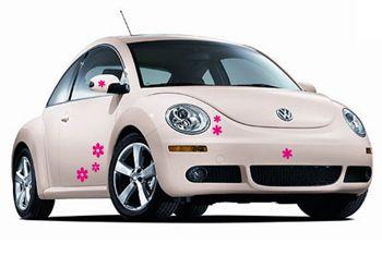 stickers voiture fleurs pour r tro et vitres par d cor c bo. Black Bedroom Furniture Sets. Home Design Ideas