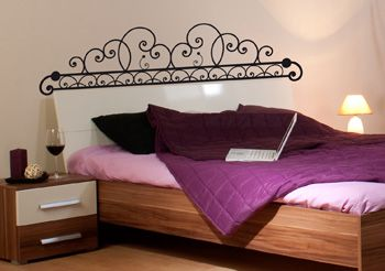 stickers chambre sticker t te de lit fer forg. Black Bedroom Furniture Sets. Home Design Ideas
