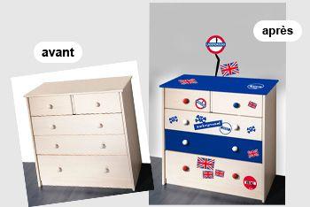 stickers meubles londres pour personnaliser et relooker un. Black Bedroom Furniture Sets. Home Design Ideas