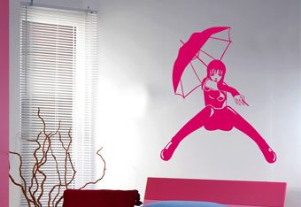 Sticker manga fille sticker chambre ado for Applique chambre ado fille