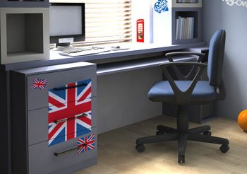 d co chambre ado style londres kit stickers drapeau anglais. Black Bedroom Furniture Sets. Home Design Ideas