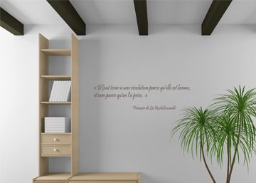 sticker mural citation de la rochefoucault pour d co maison d cor c bo. Black Bedroom Furniture Sets. Home Design Ideas