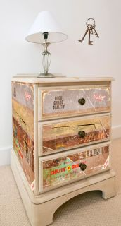 Stickers adh sifs de recouvrement style vintage r tro par for Revetement adhesif meuble