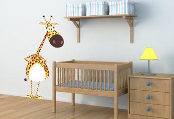 Sticker girafe un autocollant savane pour chambre enfants - Stickers girafe chambre bebe ...