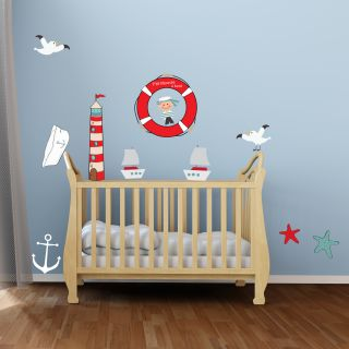 Stickers Marin Phare Petit Mousse Toiles Des Mers Pour