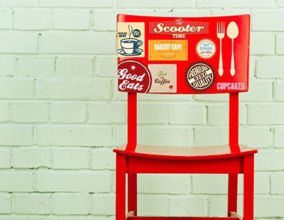 Kit De Stickers Rétro Pour La Décoration Dune Cuisine - Stickers meuble de cuisine pour idees de deco de cuisine