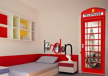 sticker cabine t l phonique sticker london. Black Bedroom Furniture Sets. Home Design Ideas