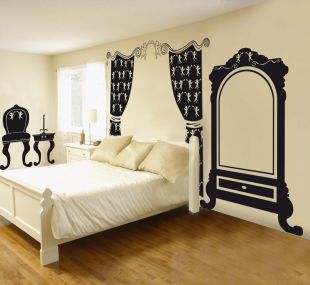 sticker baroque bonhomme ambiance live. Black Bedroom Furniture Sets. Home Design Ideas