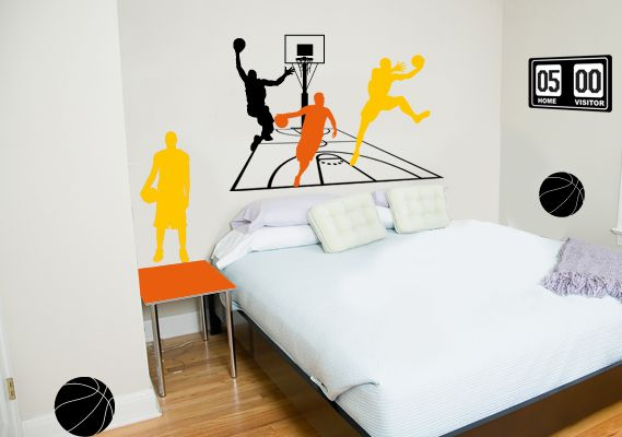 chambre etats unis deco - sticker basketball stickers muraux decorecebo