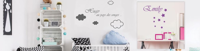 Modèles de stickers pour bébé à personnaliser avec son prénom