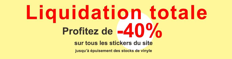 Stickers muraux stickers autocollant de d coration for Liquidation totale meubles