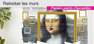 Papier peint original salon et chambre